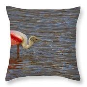 Roseatr Spoonbill   #4756 Throw Pillow