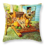 Rosebank Farm Cart Throw Pillow