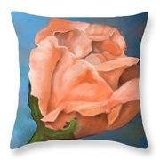 Rosebud Peaches And Cream Throw Pillow
