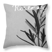 Rosemary Throw Pillow by Linda Woods