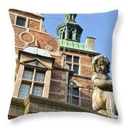 Rosenborg Castle In Copenhagen - Denmark Throw Pillow