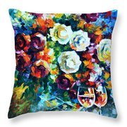 Roses And  Throw Pillow