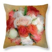 Roses Antiqua Throw Pillow