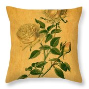 Roses Are Golden Throw Pillow
