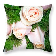 Roses Bouquet Throw Pillow