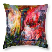 Roses For Ruth Throw Pillow