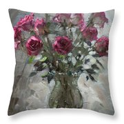 Roses For Viola Throw Pillow by Ylli Haruni