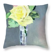 Roses In A Champagne Glass Throw Pillow