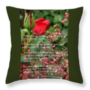 Roses In Heaven Throw Pillow