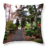 Roses In March Throw Pillow