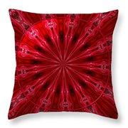 Roses Kaleidoscope Under Glass 26 Throw Pillow