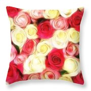 Roses Of Love Throw Pillow