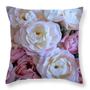 Roses On The Veranda Throw Pillow