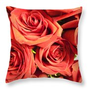 Roses On Your Wall Throw Pillow