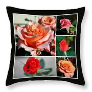 Roses Roses Roses I Thank All The Roses Throw Pillow
