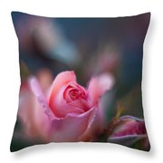 Roses Scented Dream Throw Pillow by Mike Reid