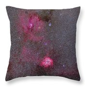 Rosette And Cone Nebula Area Throw Pillow