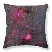 Rosette And Cone Nebula Area Throw Pillow