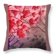 Rosettes In Abstract Throw Pillow