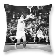 Rosewall Playing Tennis Throw Pillow