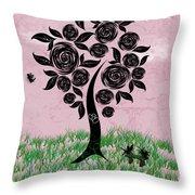 Rosey Posey Throw Pillow