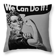 Rosie In American Colors Throw Pillow