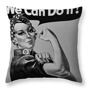 Rosie In Black And White1 Throw Pillow