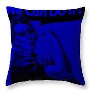 Rosie In Blue Throw Pillow
