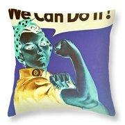 Rosie In Negative Throw Pillow