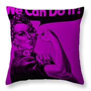 Rosie In Purple Throw Pillow