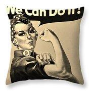 Rosie In Sepia Throw Pillow