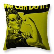Rosie In Yellow Throw Pillow
