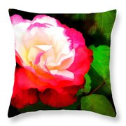 Rosie Red And White Throw Pillow