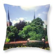 Roskilde Cathedral Throw Pillow