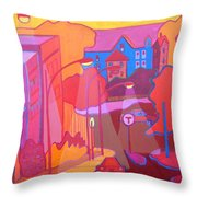Roslindale Never Looked So Red Throw Pillow