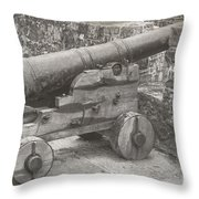 Ross Castle Cannon Throw Pillow