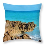 Ross Witham Beach 1 Throw Pillow