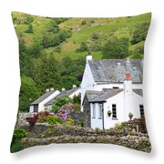 Rosthwaite In The Valley Of Borrowdale Lake District Throw Pillow