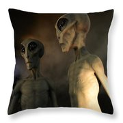 Roswell Visiting Hour Throw Pillow