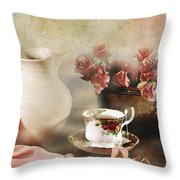 Rosy Complexion Throw Pillow