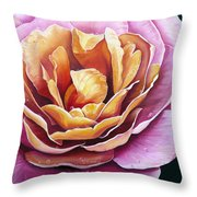 Rosy Dew Throw Pillow