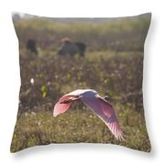 Rosy In The Field Throw Pillow