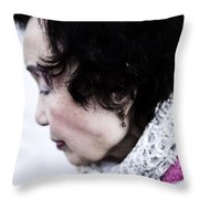 Rosy Lee Throw Pillow