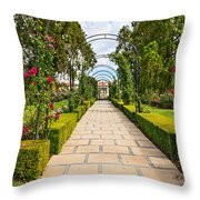 Rosy Path Throw Pillow