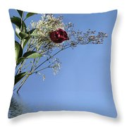 Rosy Reflection - Left Side Throw Pillow