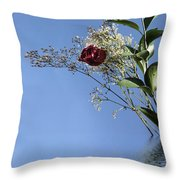 Rosy Reflection - Right Side Throw Pillow