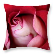 Rosy Rose Throw Pillow