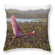 Rosy Soar Throw Pillow