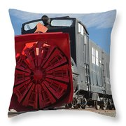 Rotary Snow Thrower 99201 In The Colorado Railroad Museum Throw Pillow