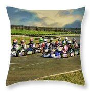 Rotax Challenge Of The Americas Sr. Max Grid Throw Pillow